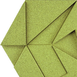 Shapes - Pinwheel (Olive) | Cork tiles | Architectural Systems