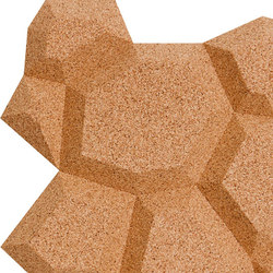 Shapes - Pop (Natural) | Cork tiles | Architectural Systems