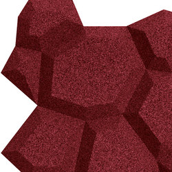 Shapes - Pop (Bordeaux) | Cork tiles | Architectural Systems
