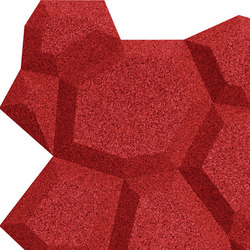 Shapes - Pop (Red) | Cork tiles | Architectural Systems