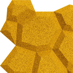 Shapes - Pop (Yellow) | Cork tiles | Architectural Systems
