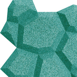 Shapes - Pop (Turquoise) | Cork tiles | Architectural Systems