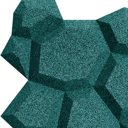 Shapes - Pop (Emerald) | Cork tiles | Architectural Systems