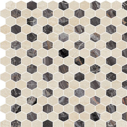 Hexagons | Type C | Dalles en pierre naturelle | Gani Marble Tiles