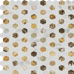 Hexagons | Type D | Dalles en pierre naturelle | Gani Marble Tiles
