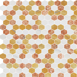 Hexagons | Type H | Dalles en pierre naturelle | Gani Marble Tiles