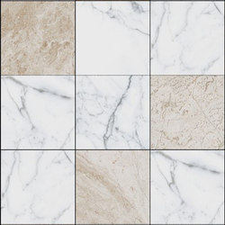 Mosaic Square 3x3 | Type E | Dalles en pierre naturelle | Gani Marble Tiles