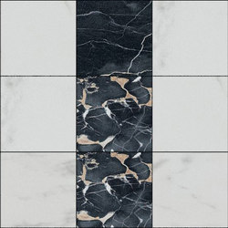 Mosaic Square 3x3 | Type J | Dalles en pierre naturelle | Gani Marble Tiles