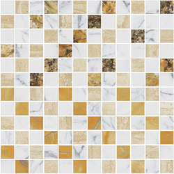 Mosaic Square CROSS 12X12 | Type A | Dalles en pierre naturelle | Gani Marble Tiles