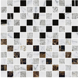 Mosaic Square CROSS 12X12 | Type B | Dalles en pierre naturelle | Gani Marble Tiles