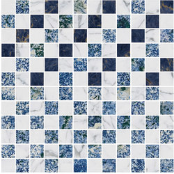 Mosaic Square CROSS 12X12 | Type C | Baldosas de piedra natural | Gani Marble Tiles