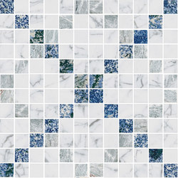 Mosaic Square CROSS 12X12 | Type E | Dalles en pierre naturelle | Gani Marble Tiles