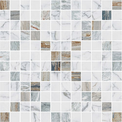Mosaic Square CROSS 12X12 | Type H | Dalles en pierre naturelle | Gani Marble Tiles