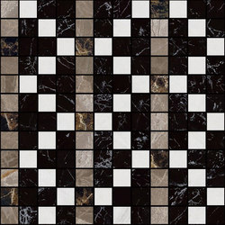 Mosaic Square FREEDRAWING 12X12 | Type A | Dalles en pierre naturelle | Gani Marble Tiles