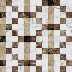 Mosaic Square FREEDRAWING 12X12 | Type B | Dalles en pierre naturelle | Gani Marble Tiles