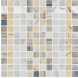 Mosaic Square FREEDRAWING 12X12 | Type G | Dalles en pierre naturelle | Gani Marble Tiles