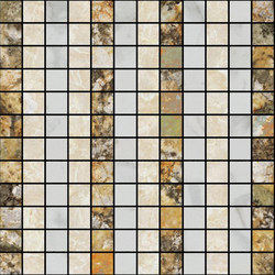 Mosaic Square LINE 12X12 | Type E | Natural stone tiles | Gani Marble Tiles