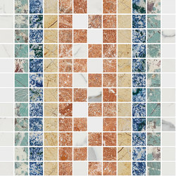 Mosaic Square SHADE 12X12 | Type A | Natural stone tiles | Gani Marble Tiles