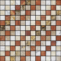 Mosaic Square SHADE 12X12 | Type F | Dalles en pierre naturelle | Gani Marble Tiles