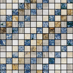 Mosaic Square SHADE 12X12 | Type H | Dalles en pierre naturelle | Gani Marble Tiles