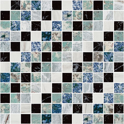 Mosaic Square SHADE 12X12 | Type K | Dalles en pierre naturelle | Gani Marble Tiles