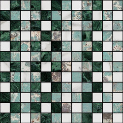 Mosaic Square STRUCTURE 12X12 | Type B | Dalles en pierre naturelle | Gani Marble Tiles