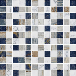 Mosaic Square STRUCTURE 12X12 | Type D | Dalles en pierre naturelle | Gani Marble Tiles