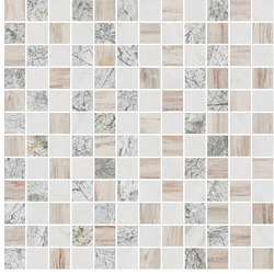 Mosaic Square STRUCTURE 12X12 | Type C | Dalles en pierre naturelle | Gani Marble Tiles