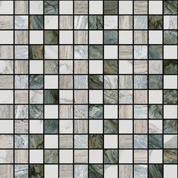 Mosaic Square STRUCTURE 12X12 | Type E | Dalles en pierre naturelle | Gani Marble Tiles