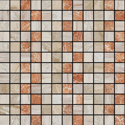 Mosaic Square STRUCTURE 12X12 | Type F | Dalles en pierre naturelle | Gani Marble Tiles