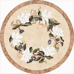 Medallion Round | PH040 | Lastre | Gani Marble Tiles