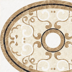 Medallion Round | PH092 | Lastre | Gani Marble Tiles