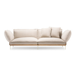 Jord Sofa 2 seater with armrests | Canapés d'attente | Fogia