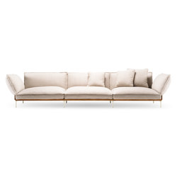 Jord Sofa 3 seater with armrests | Loungesofas | Fogia