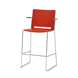 laFILÒ PLASTIC STOOL WITH ARMS | Taburetes de bar | Diemmebi S.p.A
