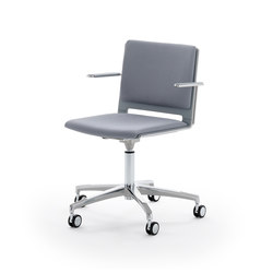 laFILÒ SOFT TASK CHAIR WITH ARMS | Arbeitsdrehstühle | Diemmebi S.p.A