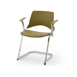 laKENDÒ PLASTIC CANTILEVER ARMCHAIR | Visitors chairs / Side chairs | Diemmebi S.p.A