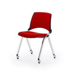laKENDÒ SOFT CASTOR CHAIR | Visitors chairs / Side chairs | Diemmebi S.p.A