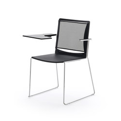 S'MESH PLASTIC WRITING TABLET ARMCHAIR | Sillas | Diemmebi