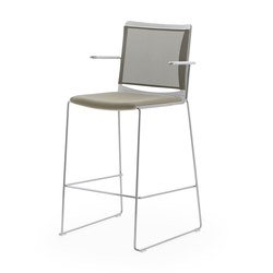 S'MESH SOFT STOOL WITH ARMS | Taburetes de bar | Diemmebi S.p.A