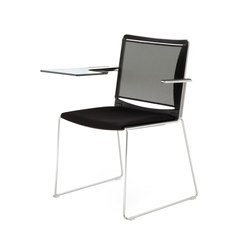 S'MESH SOFT WRITING TABLET ARMCHAIR | Visitors chairs / Side chairs | Diemmebi S.p.A