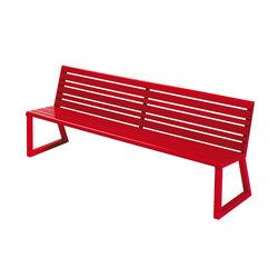 VENTIQUATTRORE.H24 SEAT WITH BACKREST | Bancos | Diemmebi