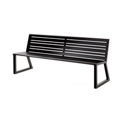 VENTIQUATTRORE.H24 SEAT WITH BACKREST | Garden benches | Diemmebi S.p.A