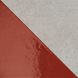 Matrice Trama 3 H4 Rosso | Carrelages | Cedit by Florim