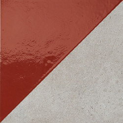 Matrice Trama 3 H5 Rosso | Carrelages | Cedit by Florim