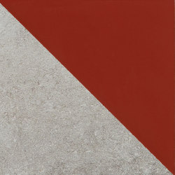 Matrice Trama 3 H6 Rosso | Ceramic tiles | Cedit by Florim