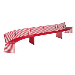 ZEROQUINDICI.015 CONCAVE OR CONVEX SEAT WITH BACKREST | Benches | Diemmebi