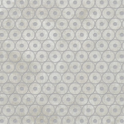 Tesori Anelli Grigio Decoro Argento | Piastrelle ceramica | FLORIM
