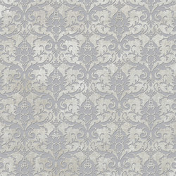 Tesori Broccato Grigio Decoro Argento | Ceramic tiles | Cedit by Florim