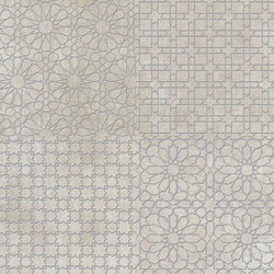 Tesori Monile Bianco Decoro Argento | Ceramic tiles | Cedit by Florim